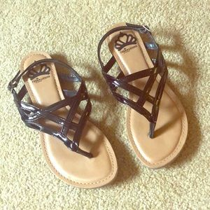Fergaliciois Black Sandals